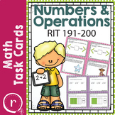NWEA MAP Prep Math Practice Task Cards Numbers Operations RIT Band 191-200