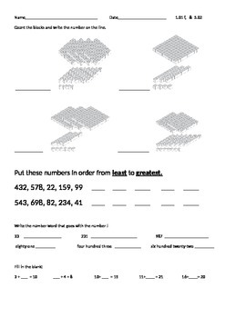 Numbers and Operations Practice Sheet 1.0