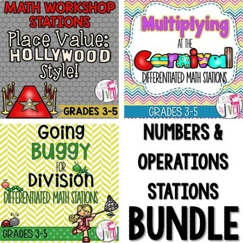 Numbers and Operations STATIONS Bundle