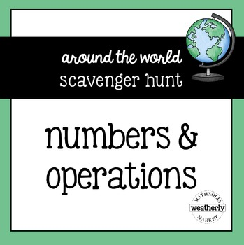 Numbers and Operations Scavenger Hunt