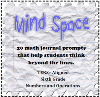 6th Grade Math Numbers and Operations Writing Prompts {TEK
