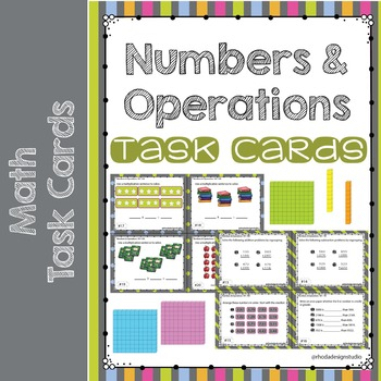 Numbers and Operations Math Task Cards