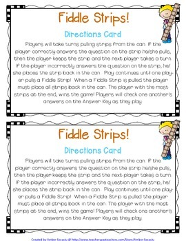Numbers and Operations in Base Ten Academic Vocabulary Fiddle Strips!