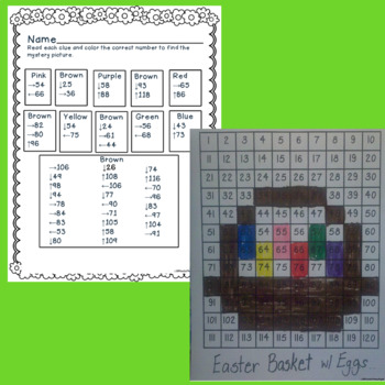 Numbers and Operations in Base 10 120-Chart Puzzlers:  Springy Thingies