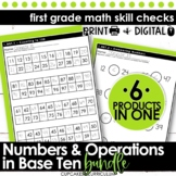 First Grade Math | Numbers and Operations in Base 10 Bundle