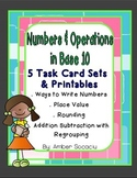 Numbers and Operations in Base 10 Task Cards and Printables