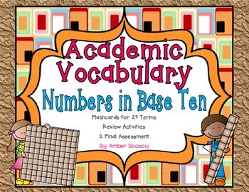Numbers and Operations in Base Ten Academic Vocabulary Pac