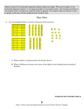Numbers and Operations in Base-Ten Assessments (4th grade)