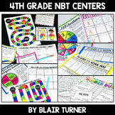 Numbers and Operations in Base Ten Bundle: 4th Grade Math Test Prep Centers
