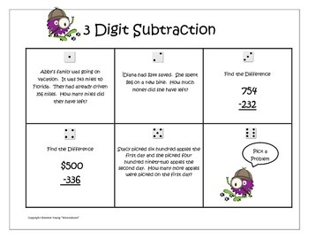 Numbers and Operations in Base Ten - Monsterous Math Game for Third Grade