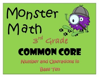 Numbers and Operations in Base Ten - Monsterous Math Game