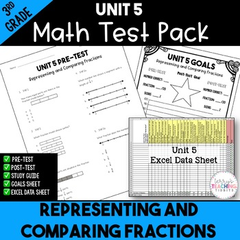 Representing and Comparing Fractions Test Pack *3rd Grade* {Unit 5}