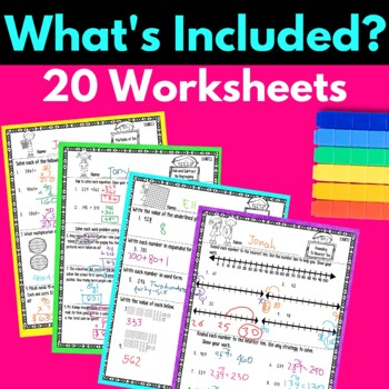 Third Grade Numbers and Operations in Base Ten Worksheets