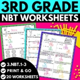 3rd Grade Numbers and Operations in Base Ten Worksheets