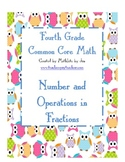 Numbers and Operations in Fractions Assessment Grade 4