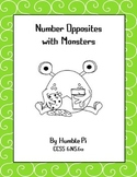 Numbers and Opposites with Monsters- CCSS 6.NS.6a
