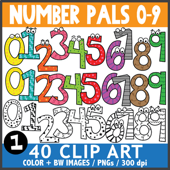 Numbers and Pals Clip Art 1
