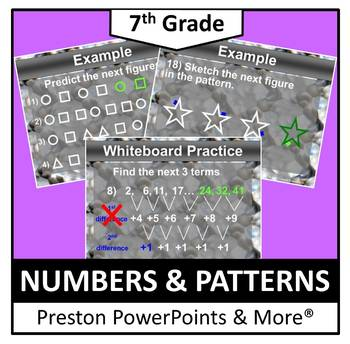 (7th) Numbers and Patterns in a PowerPoint Presentation