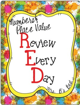 Numbers and Place Value - R.E.D. (Review Every Day)