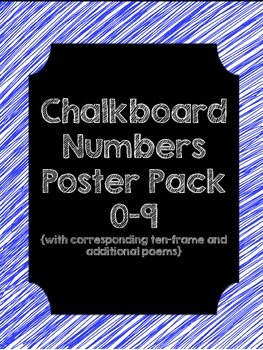 Chalkboard {Numbers and Poems Poster Pack}