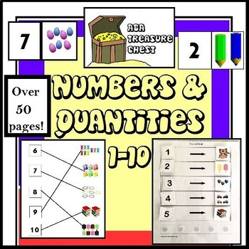 Numbers and Quantities 1-10 Bundle ABLLS-R R8