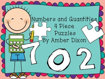 Numbers and Quantities 4 Piece Puzzles