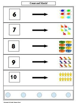 Numbers and Quantities 6-10 Autism ABA Use with ABLLS-R