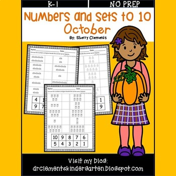 October Numbers and Sets to 10