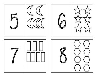 Numbers and Shapes File Folder Game