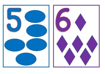 Numbers and Shapes flashcards