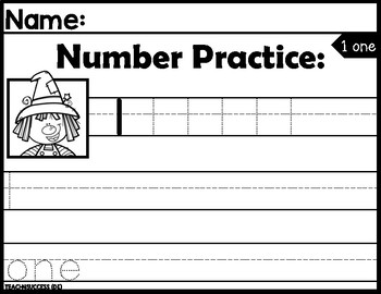 Numbers and Ten frame Practice 1-10