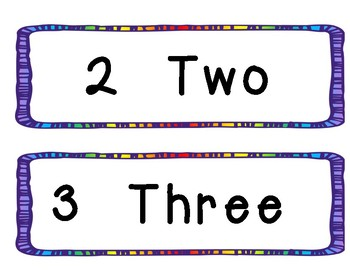 Numbers and Words 0-20 Bulletin Board Set