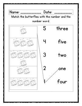 Numbers and colors:  an Emergent reader