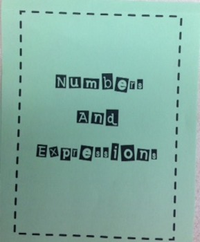 Numbers and Expressions Foldable