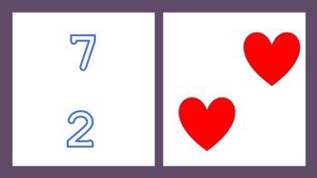 Numbers and hearts - Saint Valentines - Spanish