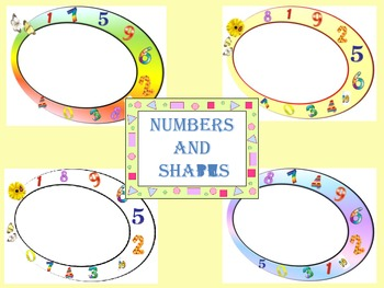 Frames - Numbers and  Shapes