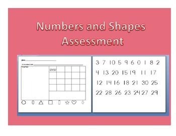 Numbers and shapes assessment