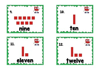 Numbers and ten base blocks matching games