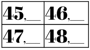 Numbers before and After