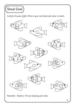 Numbers bonds to 10 activity book
