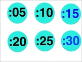 Numbers by 5 for telling time
