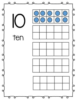 Numbers by Tens with Tens Frame Representation