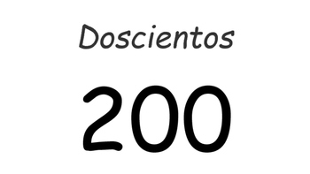 Numbers by hundreds (Spanish words included)