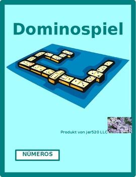 Números (Numbers in Spanish) by tens Dominoes