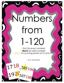 Numbers cards from 1-20