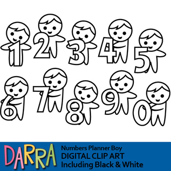 Numbers clipart (boys with numbers clip art)