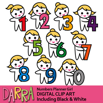 Numbers clipart (girls with numbers clip art)