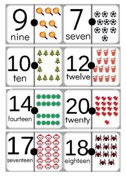 Numbers domino 1-20