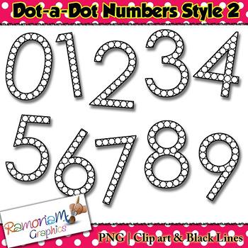 Numbers dot a dot clip art