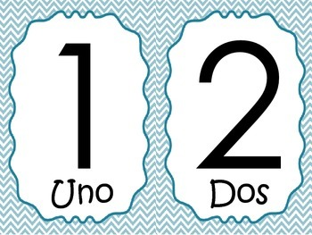 Numbers english and spanish